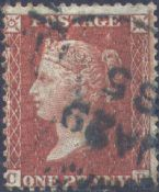 1856 1d Red SG29 Plate 23 'CB'